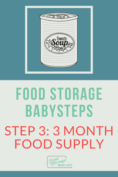 3 month food supply