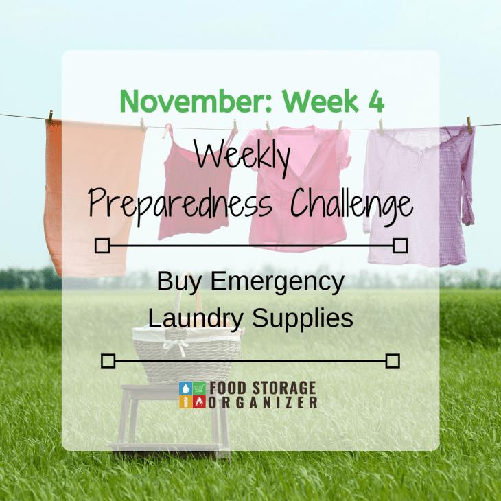 Buy Emergency Laundry Supplies • November Week #4