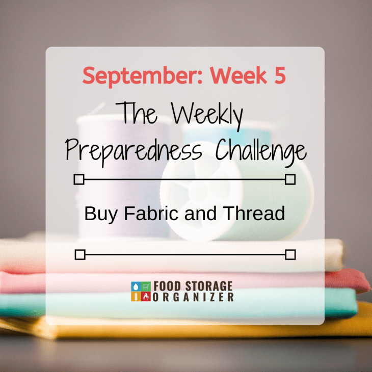 Buy Fabric and Thread • September Prep Challenge #5