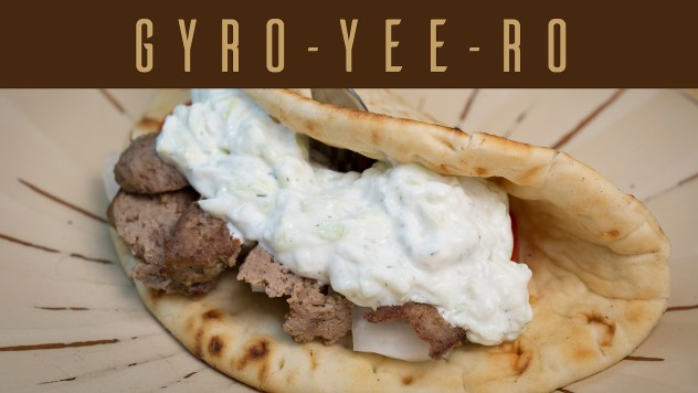 How to make a Greek Gyro. Pronounced (YEE-RO) Also a tzatziki sauce recipe. See link below for printable recipe.