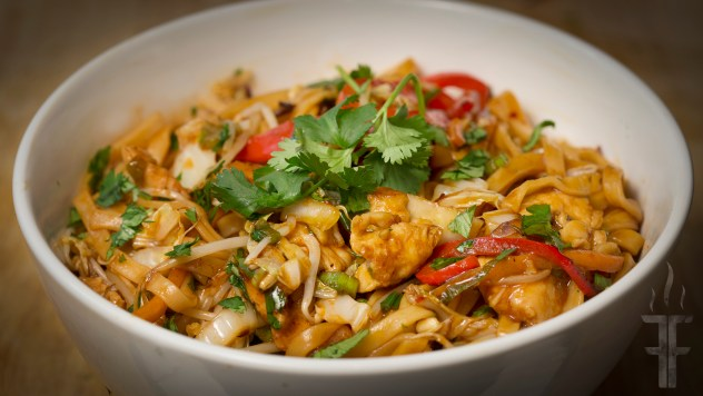 How to make chicken lo mein.