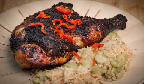Jerked Chicken and Caribbean Rice