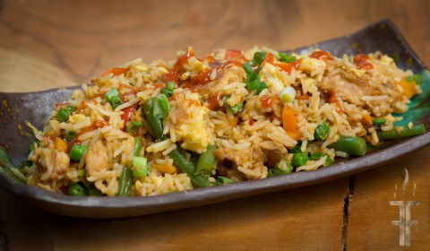Honey Sriracha Chicken Fried Rice