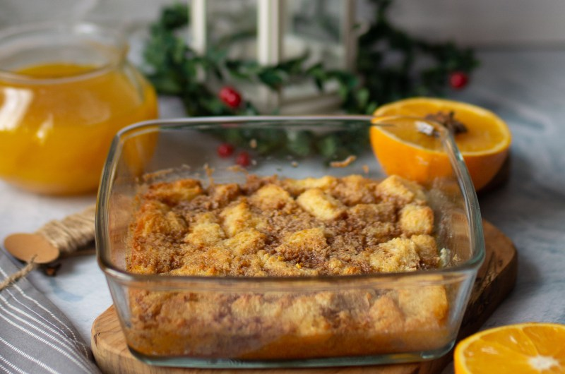 Bread Pudding With Spiced Orange Sauce
