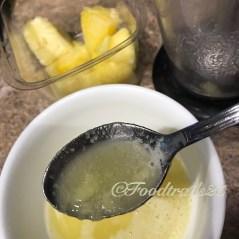 Pineapple crush for moistening the sponge