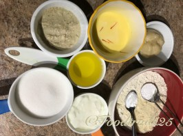 Ingredients for Mawa Cakes