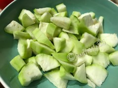 Peel and chop the vegetable in to small cubes/pieces