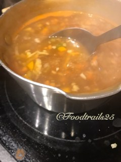 Cook for another 2-3 mins till the soup thickens