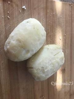 Peeled boiled Potatoes