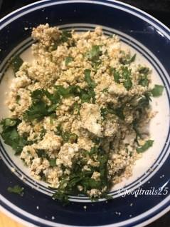 Add fresh cilantro/coriander