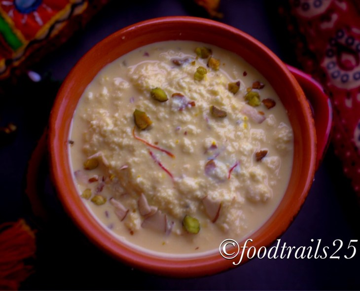 Paneer Ki Kheer Indian Cottage Cheese Pudding Food Trails