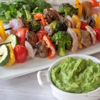 Grilled Veggies with Creamy Cilantro Dip