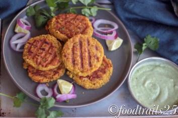 Chana Dal and Yam Kebabs