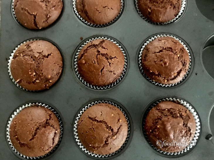 Chocolate Mawa Thandai Muffins