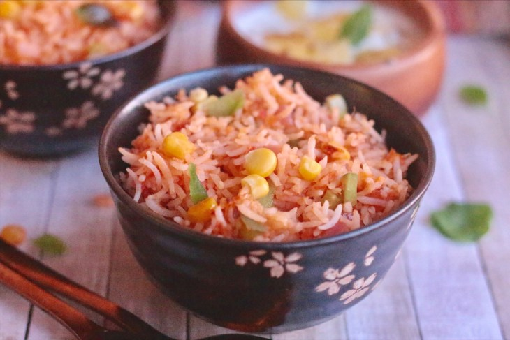 Tomato Rice with Basil