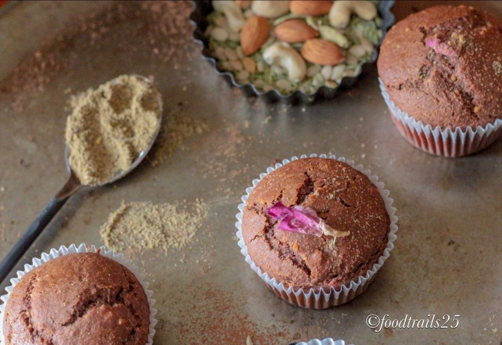 Chocolate Thandai Muffins