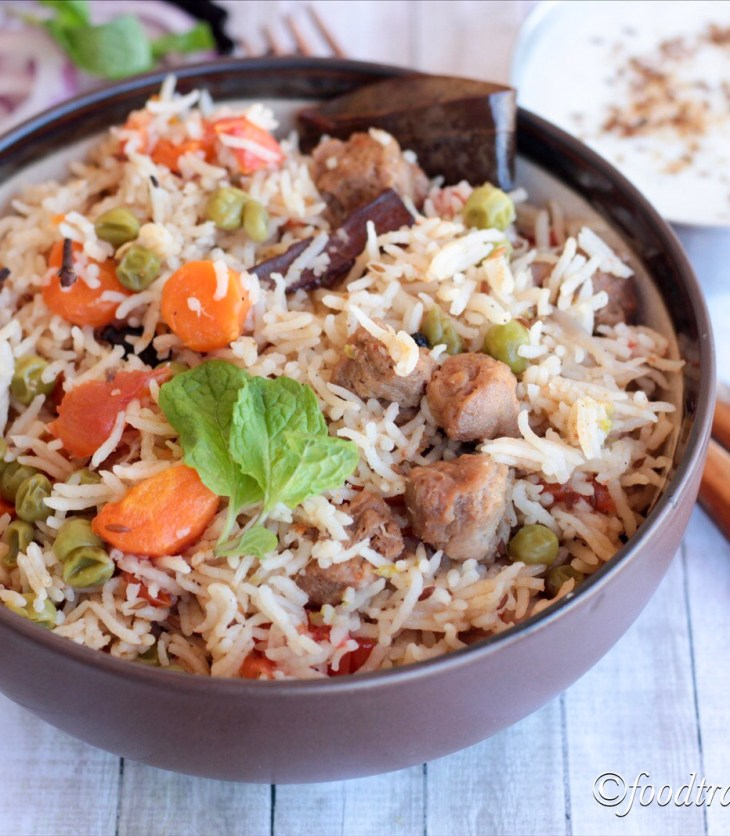 Mix Veg. Pulao(Instant Pot)