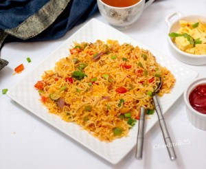 Spicy Chilli Garlic and Bell Pepper Rice