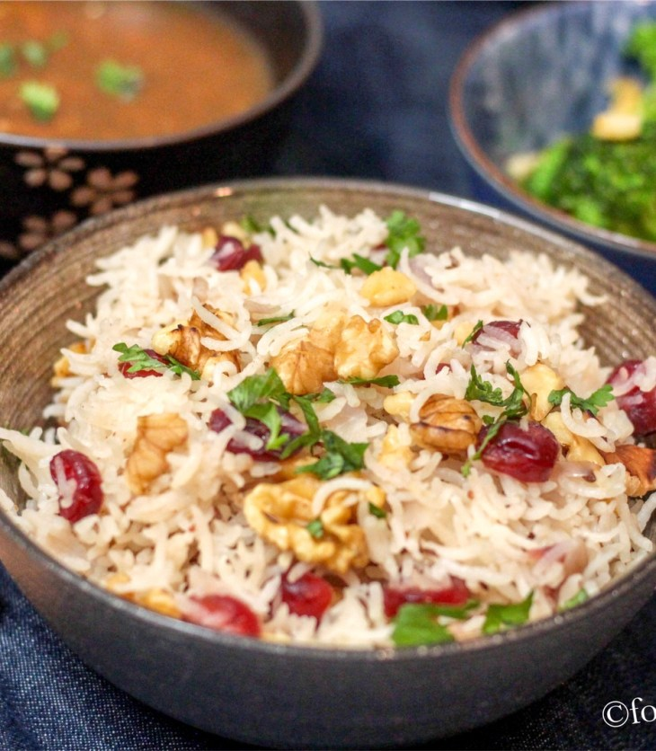 Walnut and Cranberry Rice