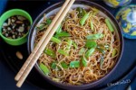 Garlic and Spring Onion Noodles