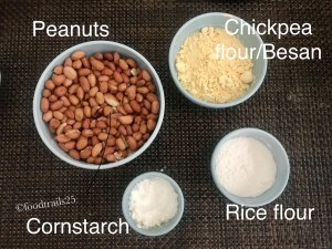 Ingredients for Masala Peanuts