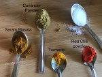 Ingredients for Papad ki subzi-Spices used