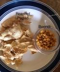 Ingredients for Papad ki subzi-Papad , boondi