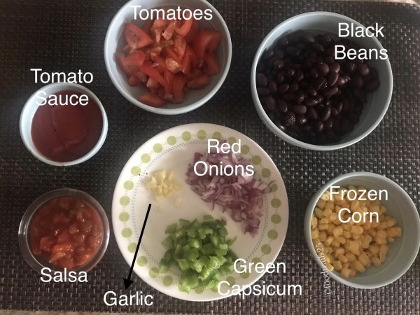 Ingredients for Nacho Soup