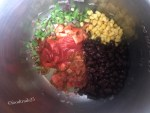 Add corn, beans and salsa