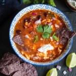 Vegetarian Nacho Soup