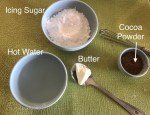 Ingredients for Chooclate Icing