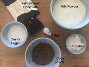 Ingredients for Hot Chocolate Mix