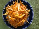 Thinly sliced orange peels