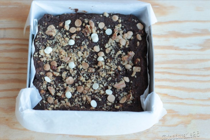 Baked Eggless Kale Brownies