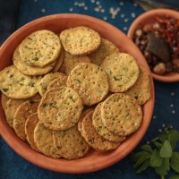 Crispy Masala Papdi(Air-fried and Baked)