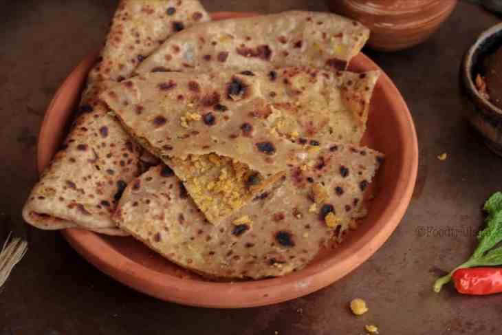 Chana Dal Stuffed Paratha