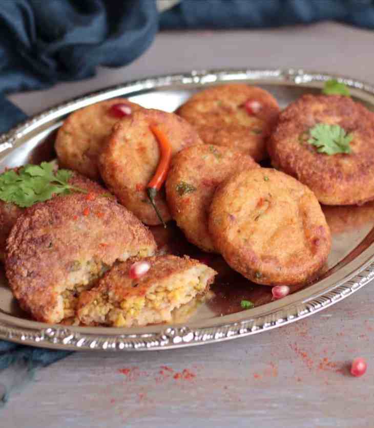 Moong Dal Stuffed Aloo Tikki