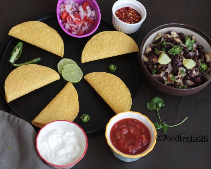 Taco Shells and Bean Salad