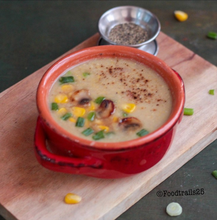 Mushroom and Sweet Corn Soup