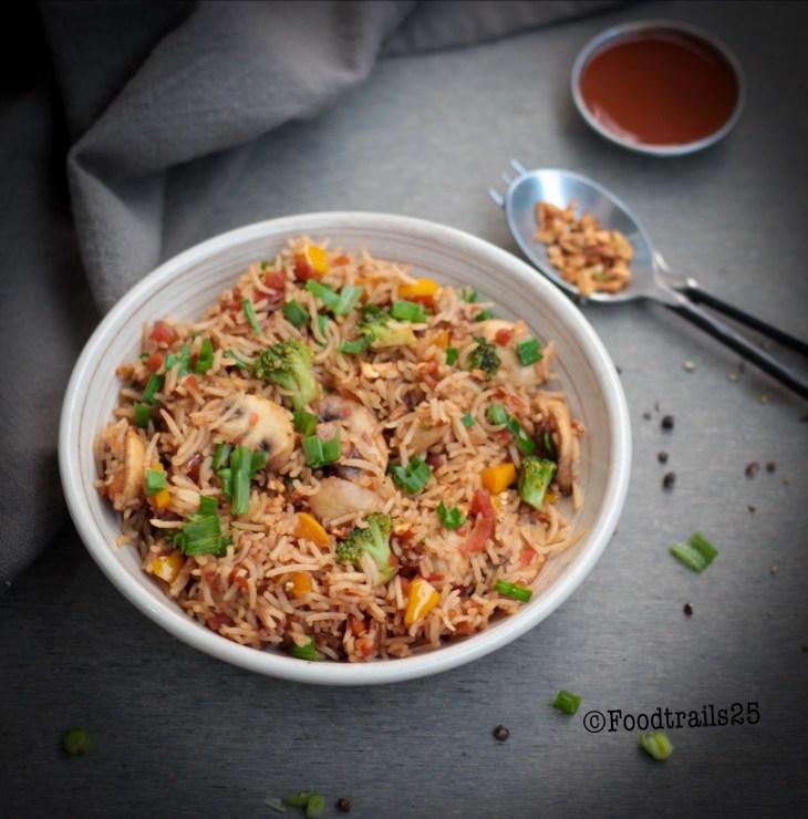 Burnt Garlic and Mushroom Rice