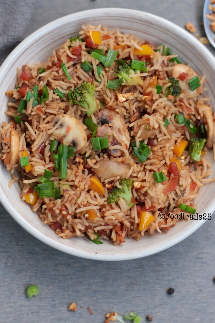 Garlic Mushroom Fried Rice