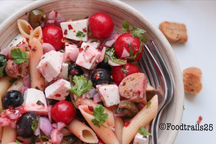 Pasta Salad with Strawberry Vinaigrette