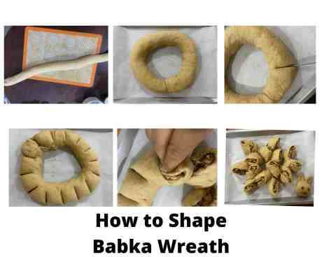 How to Shape Babka Wreath