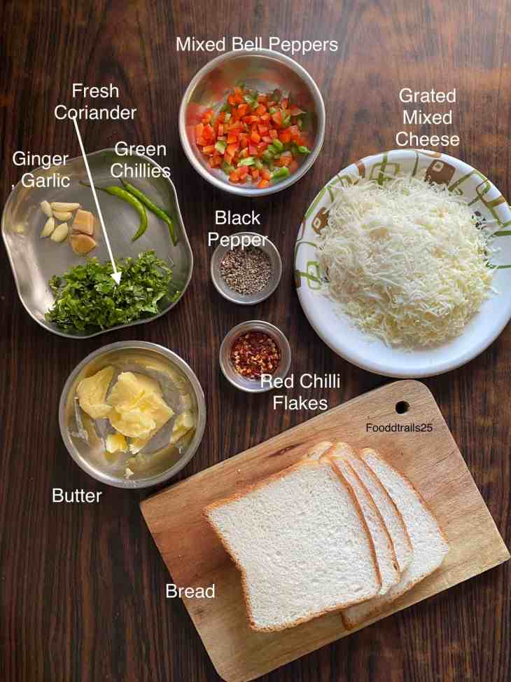 Ingredients Cheese Chilli Toast