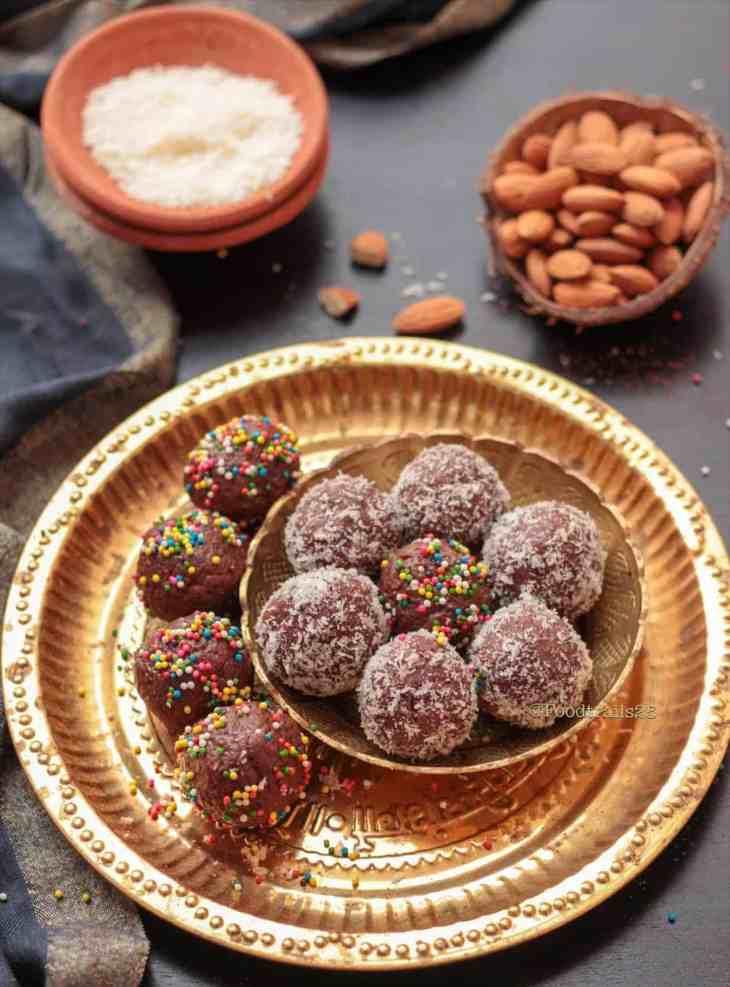 Chocolate Almond Coconut Ladoos