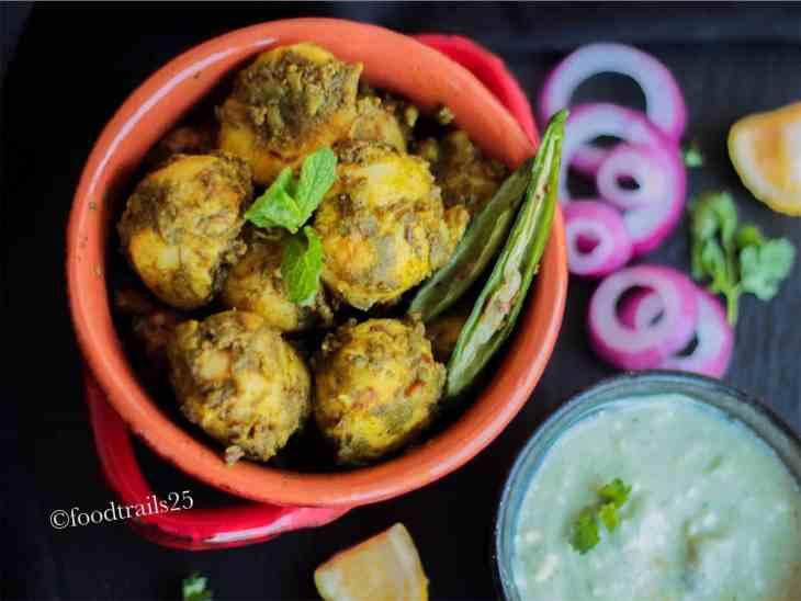 Chutney wale Aloo   Baby Potatoes in sweet and spicy chutney
