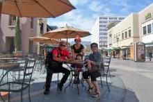 Family enjoying a beautiful day in Pasadena