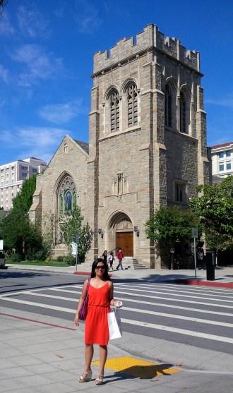 All Saints Episcopal Church across the City Hall