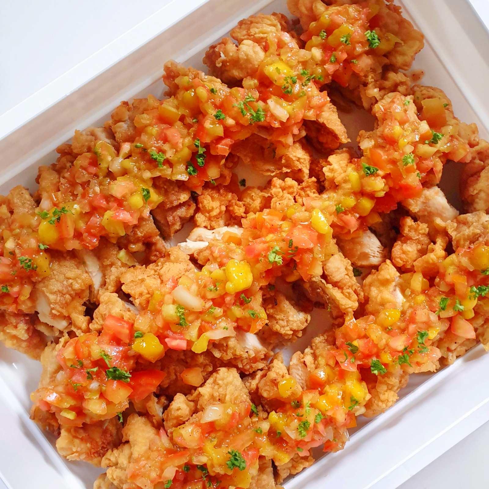 Chicken w/ mango salsa