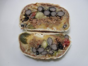 Sliced Bean and Beef Burrito